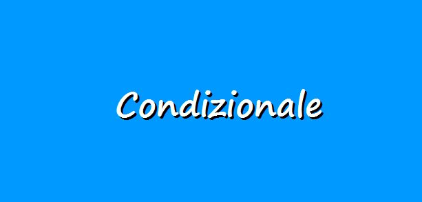 The conditional form in Italian