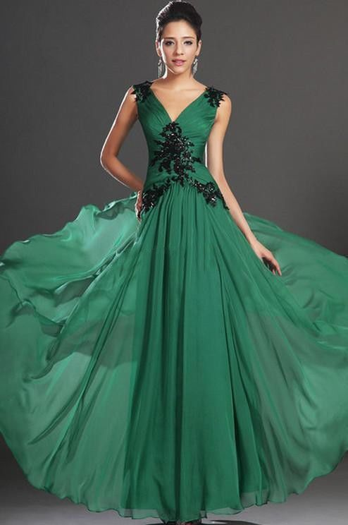 New Elegant Appliques Custom Made Long Evening/prom dress/Formal/Party/Ball gown