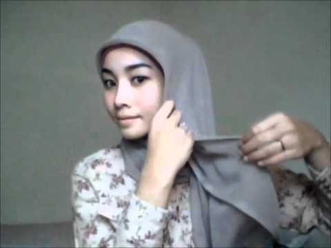 Hijab tutorial #5 - Square Scarf (3 Styles) / jilbab.wmv