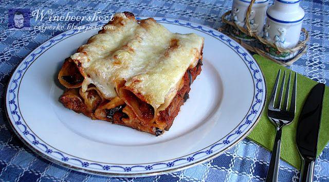 Csiperke blogja: Padlizsános bolognaival töltött cannelloni