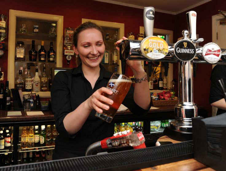 Local #beer and friendly service at The Old Waverley #hotel's #bar in #Edinburgh.