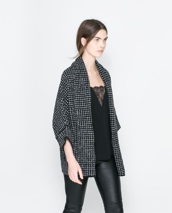 Image 2 of TWO-TONE WRAP AROUND JACKET from Zara