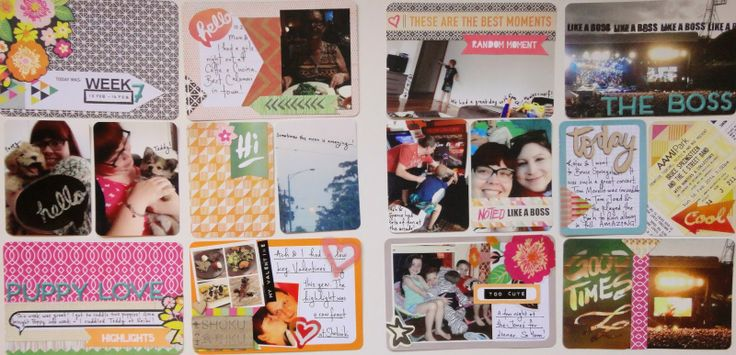 Project Life layout by Lauren Matthews using Polly! Scrap Kits May 2014 Tropical Twilight Pocket Life kit #pollyscrap