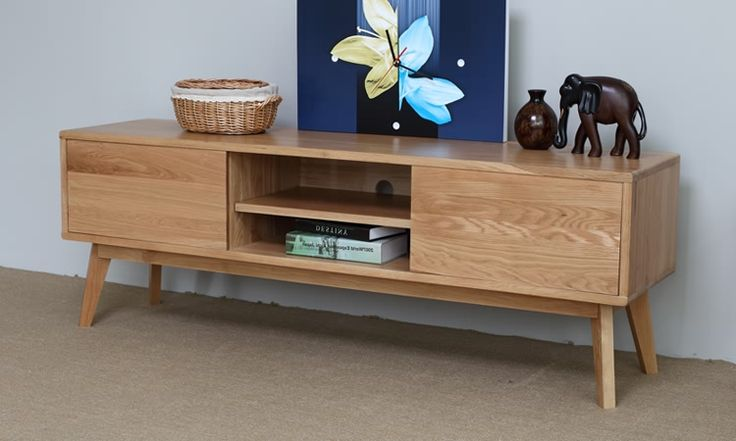 Japanese style solid wood tv cabinet coffee table cabinet