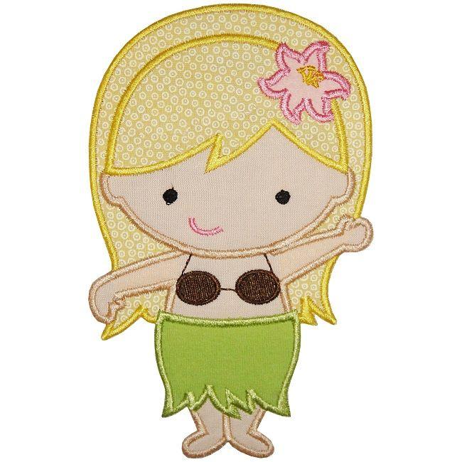 Hula Girl Applique