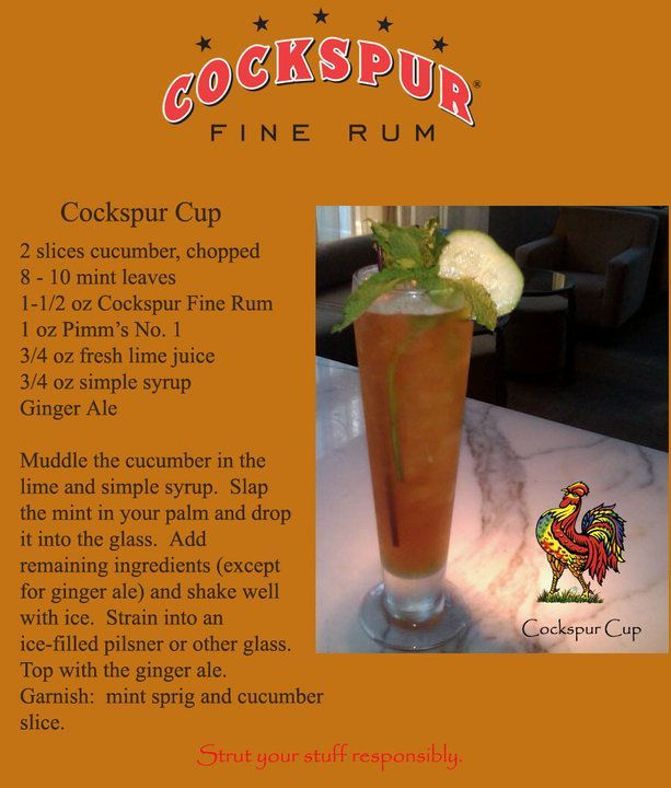 Cockspur Rum Recipe.