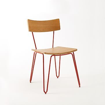 hairpin leg dining chair westelm modern dining