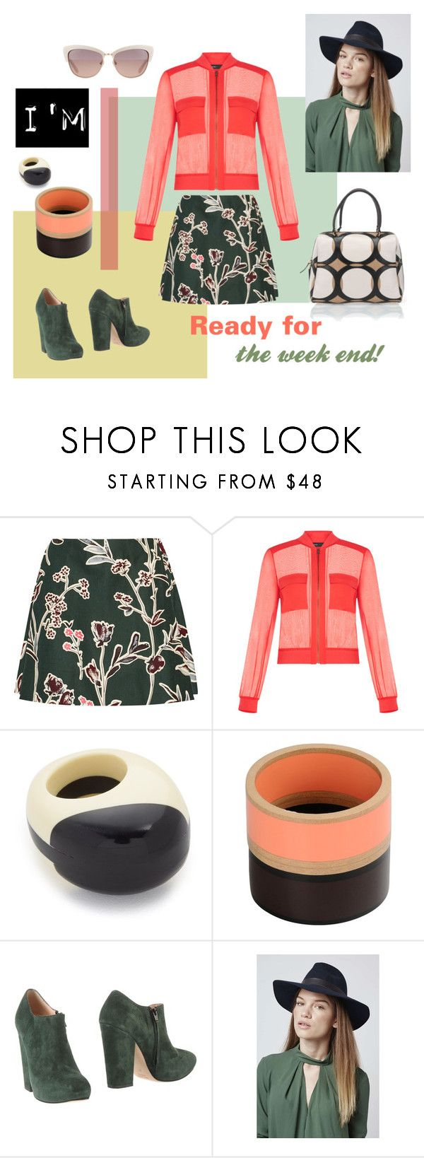 """Ready for the week end!"" by pinfi on Polyvore featuring Marni, BCBGMAXAZRIA, Noa, Topshop, Kate Spade and vintage #fashion #trends"