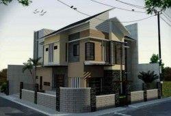 Contoh Denah dan Desain Rumah Pojok/Hoek Minimalis