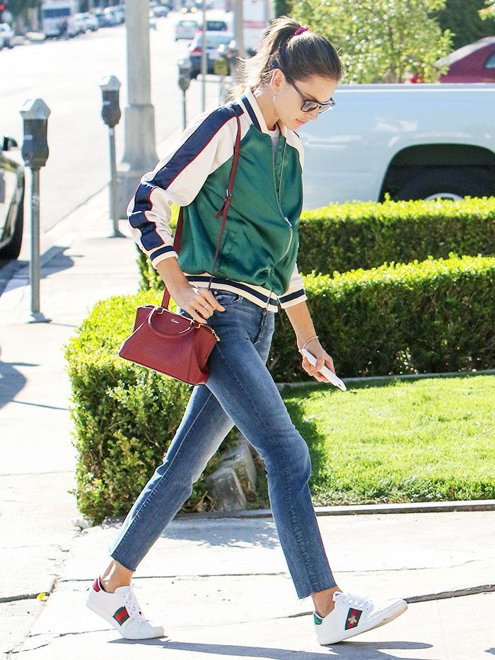 Alessandra Ambrosio Just Wore the Perfect Weekend Shoes via @WhoWhatWear