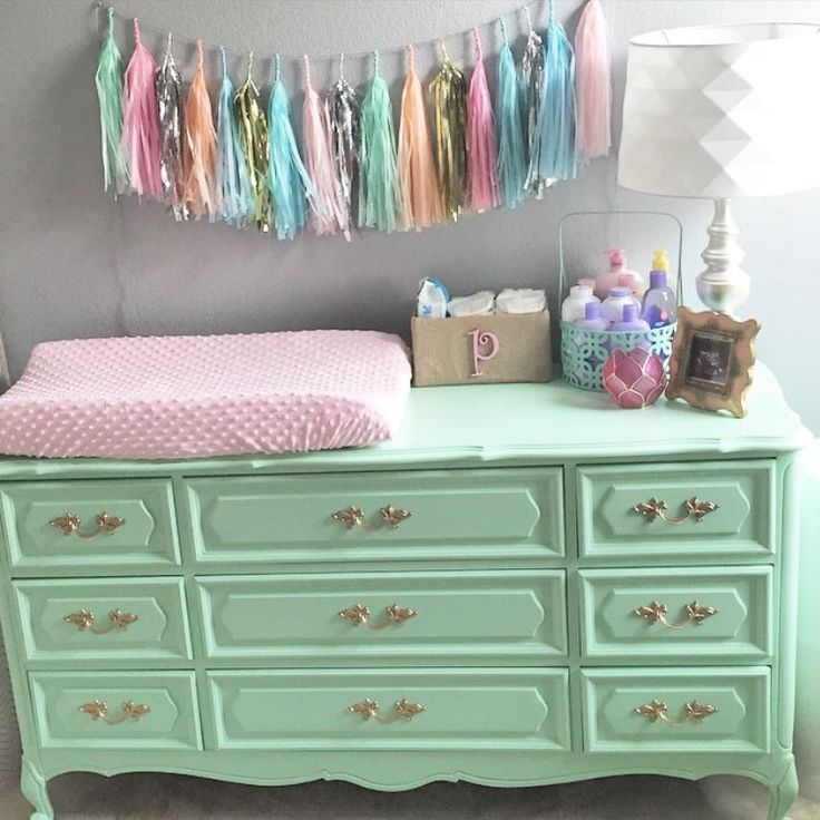 Vintage Dresser Turned Into Changing Table.