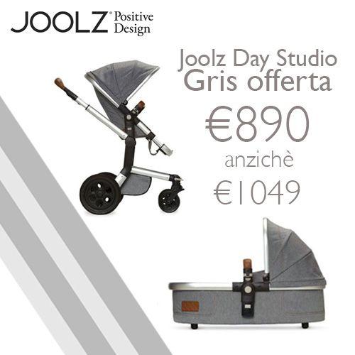 Offerta #Joolz!!!! Gran risparmio sul tuo eshop di fiducia. Acquista ora il passeggino Duo completo (passeggino e carrozzina) dallo stile chic, con doppie cuciture, che include navicella e parapioggia. Per bimbi 0-36 m Lo trovi qui: http://ndgz.it/joolz-day-studio