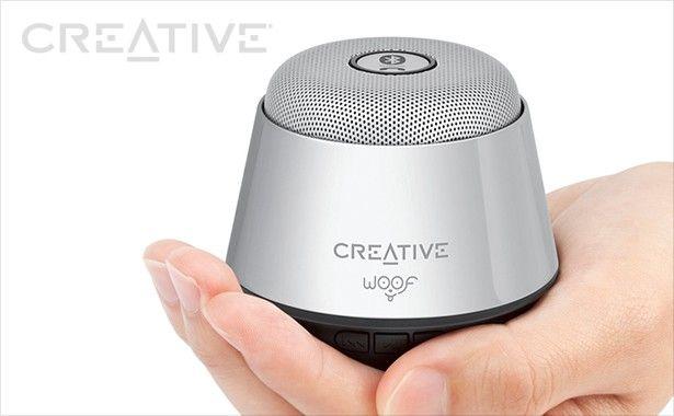 Nie daj się zwieść jego niewielkim wymiarom! Creative Woof zapewnia wyjątkowo głośny dźwięk i głębokie basy.