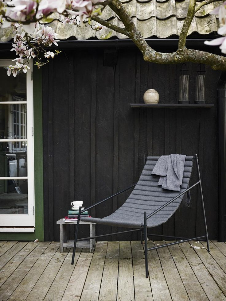 Hang Chair by Skagerak, a contemporary take on the humble deck chair gorgeous outdoor space