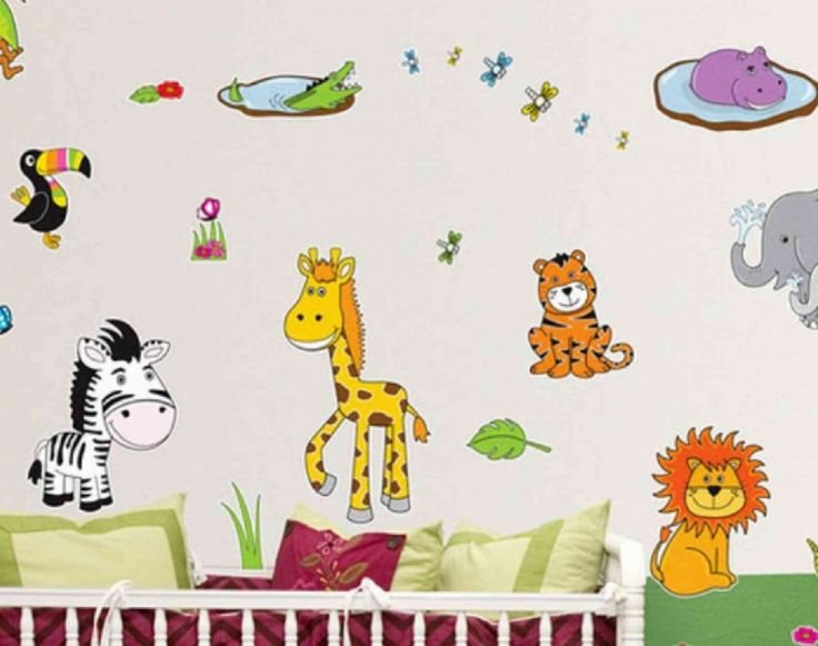 Funny Jungle Kids Cartoon Wallpapers Stickers Murals In Bedroom Ideas Part 98