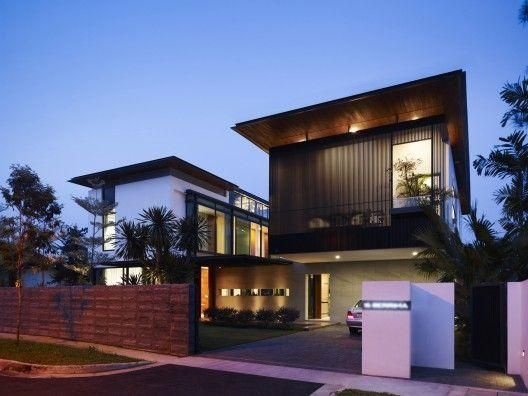 Impressive Black Wall Modern House Exterior Designs With Warm Wall Lamp Can  Add The Elegant Touch Inside It Also Has Wooden Fence That Make It Seems  Nice ... Part 62