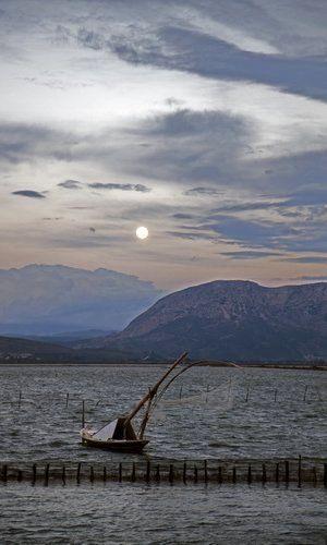 Lagoon of Messolonghi, Aetolia-Acarnania, Greece