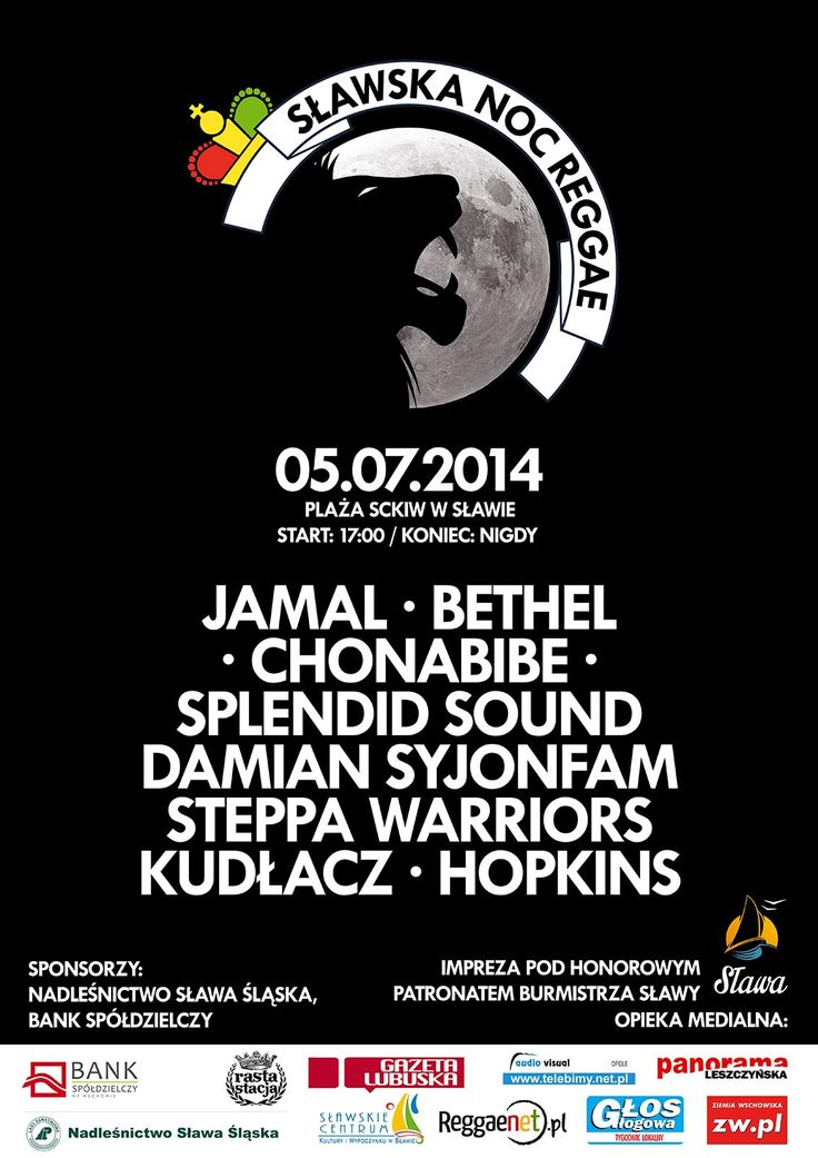 Sławska Noc Reggae 2014 - Poster