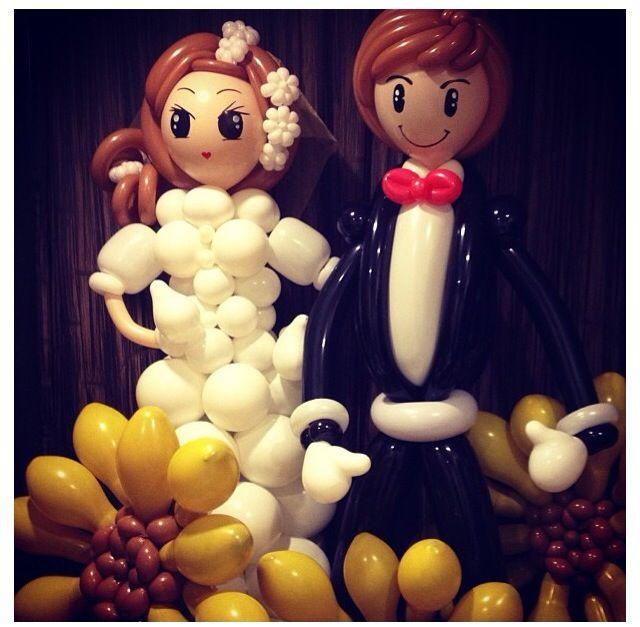 Bride And Groom Balloon Art #balloon #wedding #decor