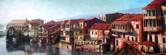 Artist Vakhtang Martiashvili,Georgia, Old Tbilisi