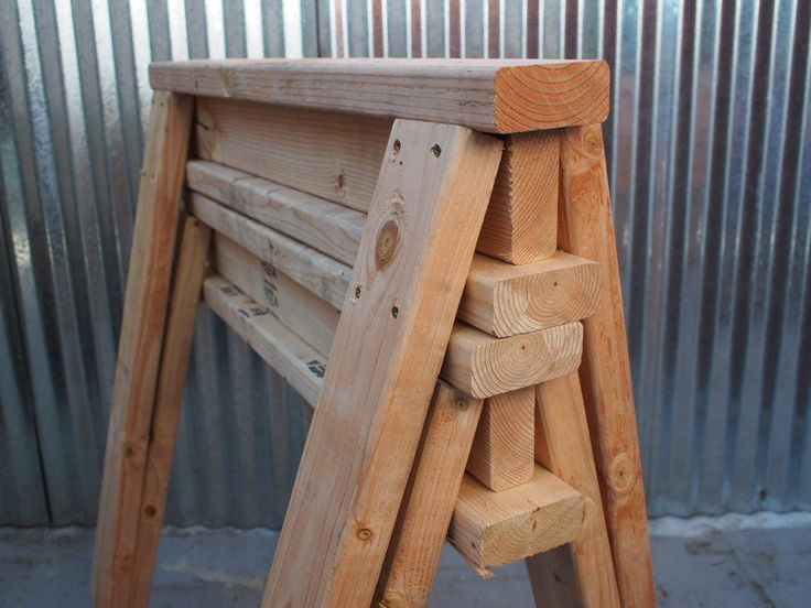 Stack'em Up (you can build your own stackable saw horses with 2x4's)