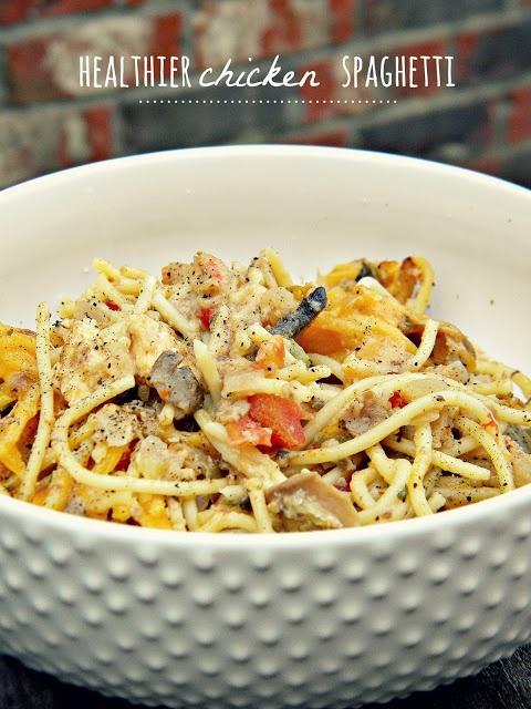 Lighter Chicken Spaghetti