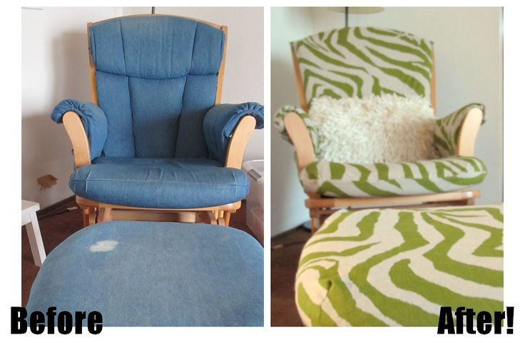 So much easier, just making a cover, not reupholstering!   Our Happy Family: Tutorial: Recovering a Glider Chair