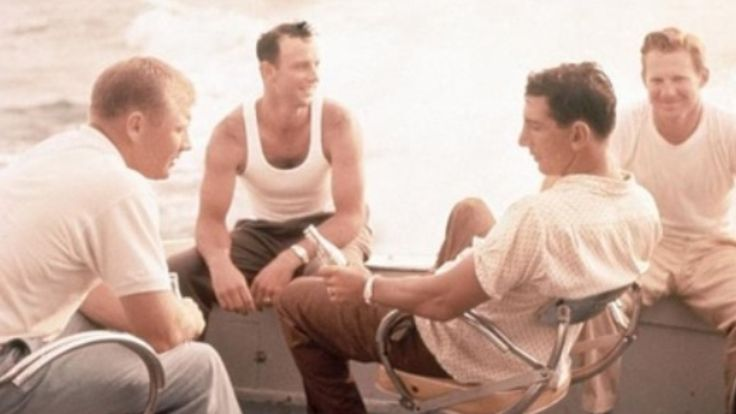 Billy Martin, Whitey Ford & Mickey Mantle - best friends, enjoying themselves on an off day