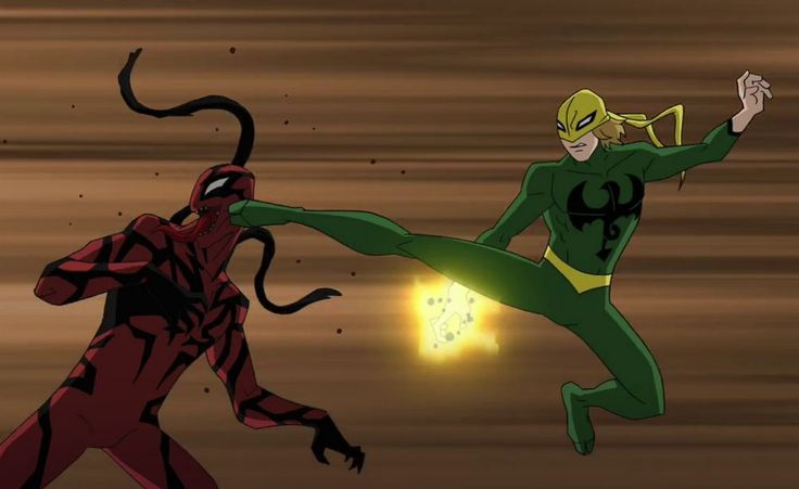 ultimate spiderman iron fist | Iron Fist Vs Carnage ...