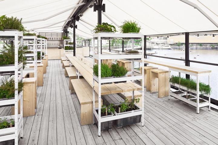 Ölbryggan beer garden by Form Us With Love, Stockholm - Sweden