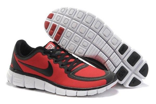 Krijgen Goedkoop Nike Free 5.0 V4 Heren Loopschoenen Rood/Zwart/Wit