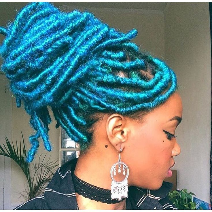 #repost #inspiration #fauxlocs DREADLIFE Yarn locs are a great way to  experiment with
