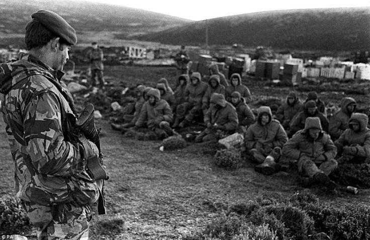 After the Battle of Goose Green, Falklands war 1982