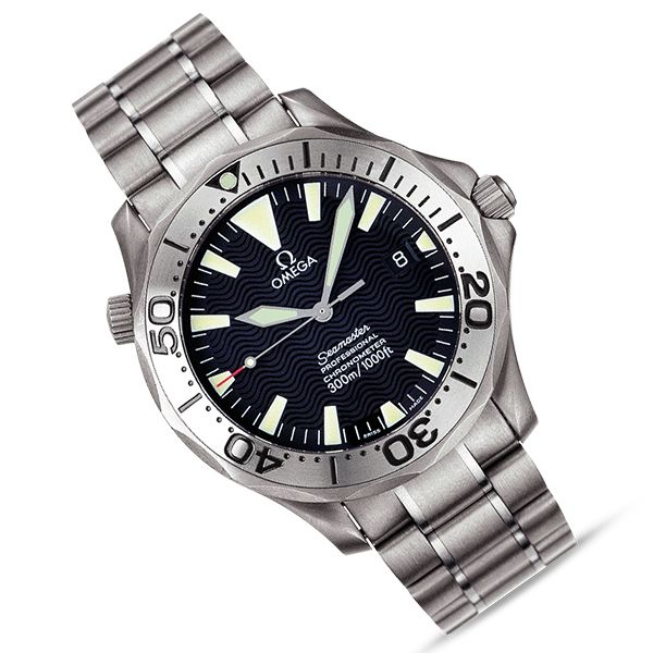 Pre-owned Omega Seamaster 300M titanium bracelet watch - comes with 1 year warranty