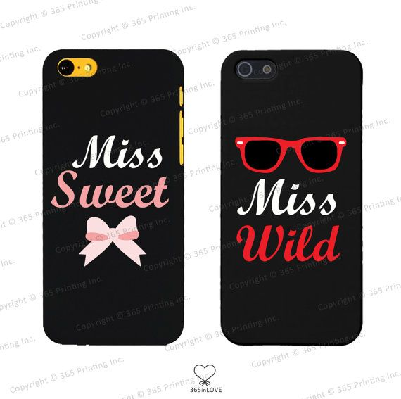Miss Wild and Miss Sweet Matching Phone Cases by 365inlovedotcom, $14.99