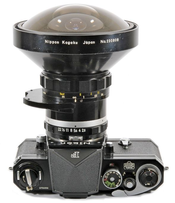 Nikon F with Fish-eye Lens