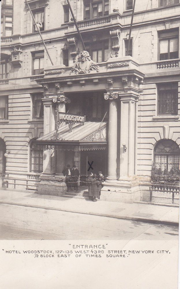 Rp Entrance Hotel Woodstock New York City Pu 1908 Usa