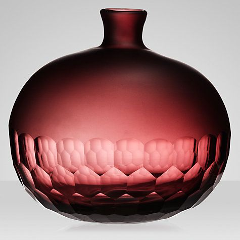 Buy John Lewis Honeycomb Vase, Mulberry Online at johnlewis.com