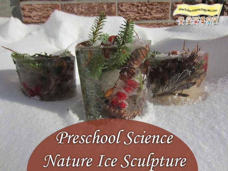 Preschool Science-Nature Ice Sculpture Craft