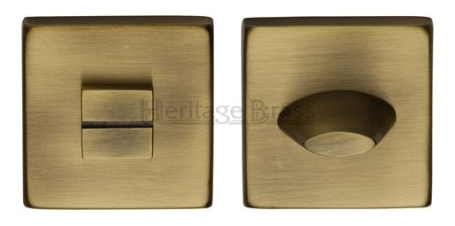Heritage Brass Square 54mm x 54mm Turn & Release, Antique Brass - SQ4043-AT None