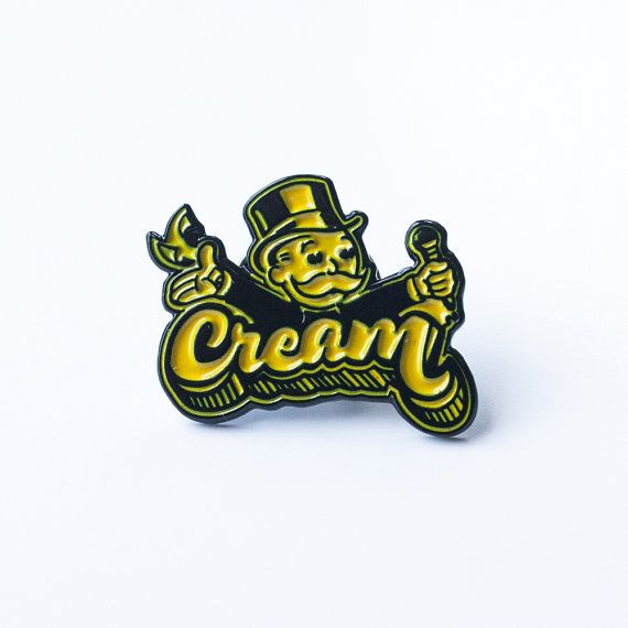 Cash Rules Everything Around Me!  - Rich Uncle Pennybags (Monopoly Man)   Pin size: Approximately 0.5 x 1 The enamel pin has a Wu-Tang yellow and black plated back. With one clutch back.  This listing is for one pin.  Ships with a pinback card specifically design for this pin. ** FREE DOMESTIC SHIPPING **   Edition of 50  $10