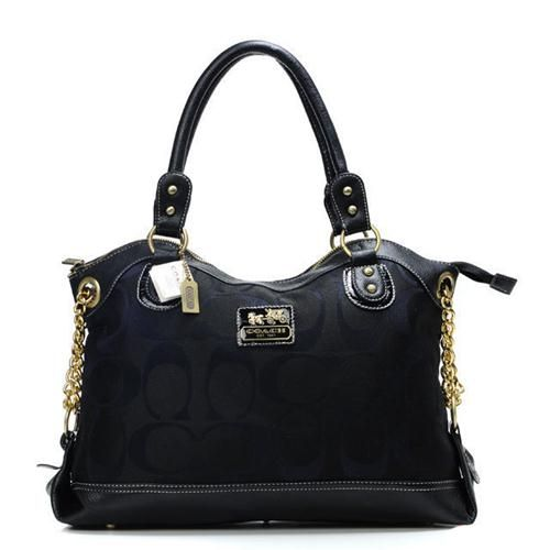 Look Here! Coach Legacy Pinnacle Lowell In Signature Large Black Satchels ADU Outlet Online