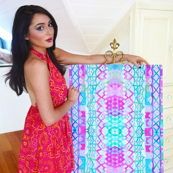 Wearing one of my #BrittLaspina Textile Prints for #SaboSkirt x