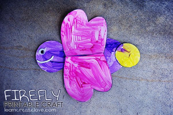 Printable Firefly Craft from http://learncreatelove.com