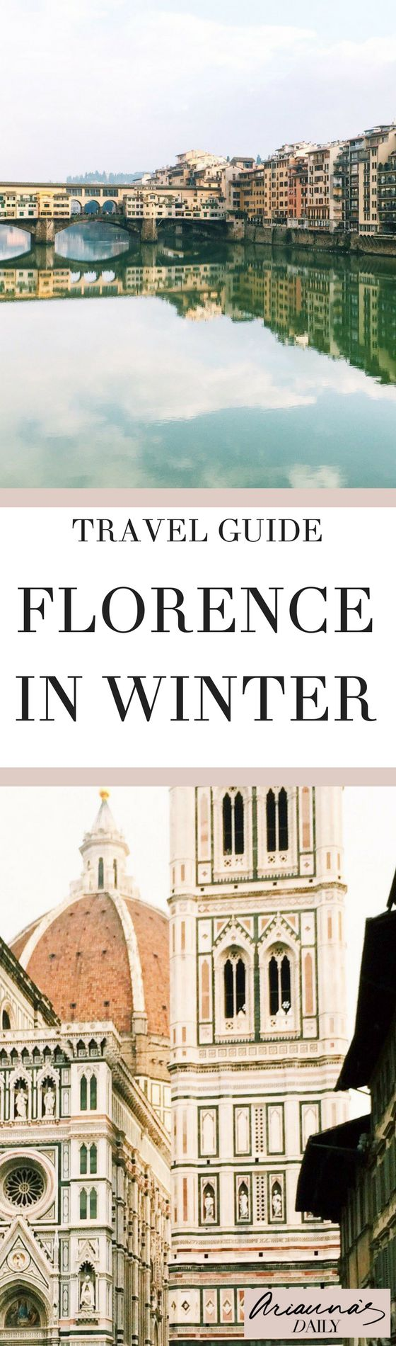 What you can expect to see on a day's walking in Florence, even in Winter. This beautiful city is so captivating and perfect for a romantic break, a weekend city break or a week long tour. From lifestyle and travel blogger Arianna's Daily #florence #travelblogger #italy