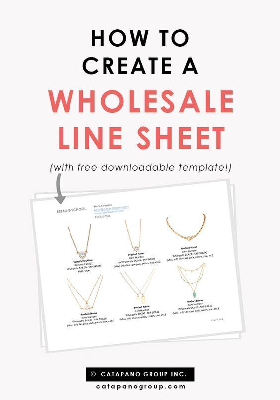 Line Sheet Template | Line Sheet Template Line Sheet Tips How To Create A Line Sheet