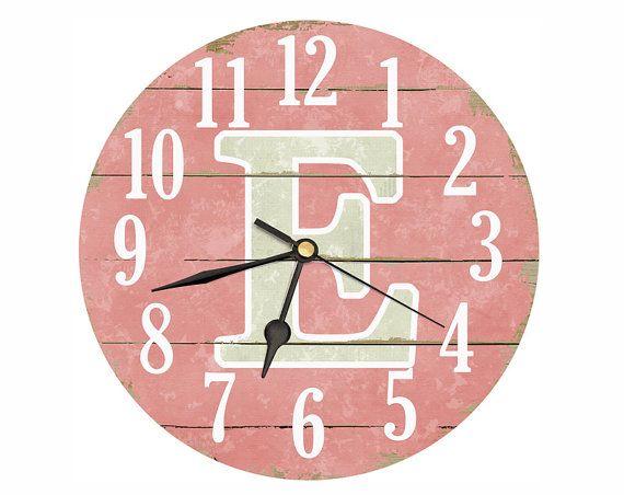 Monogramme horloge. Horloge de 11 pouces. Horloge par DarcyClocks
