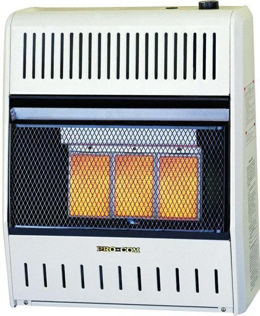 Pro-Com MG2TIR Dual Natural Gas / Propane Wall Heater, White
