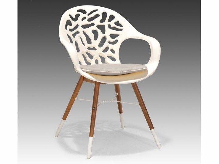 White reef stuhl esszimmer b ro garten wei mit sitzkissen for Schalenstuhl outdoor