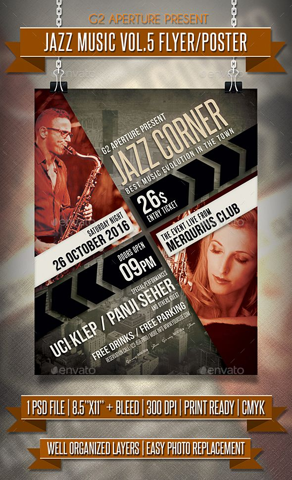 Jazz Music Flyer / Poster Vol.5